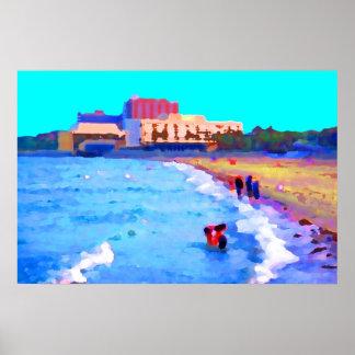 Magee Beach, Corpus Christi, Texas Poster