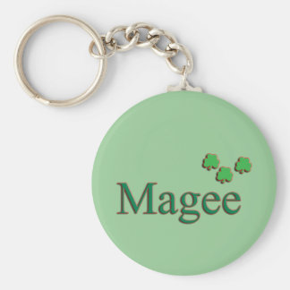 Magee Family Basic Round Button Keychain