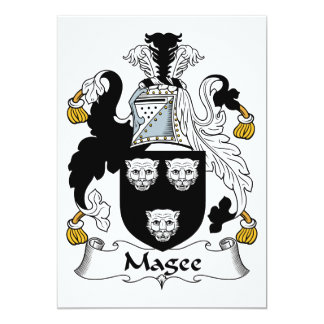 Magee Family Crest Card