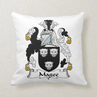 Magee Family Crest Throw Pillow