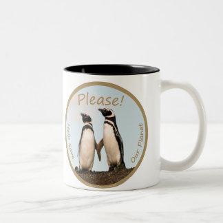 Magellan Penguins Two-Tone Coffee Mug