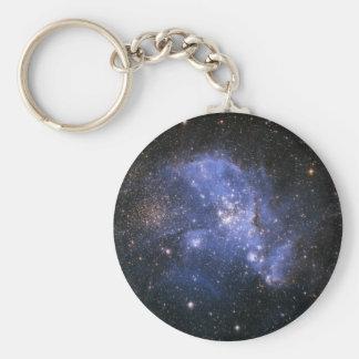 Magellanic cloud basic round button keychain