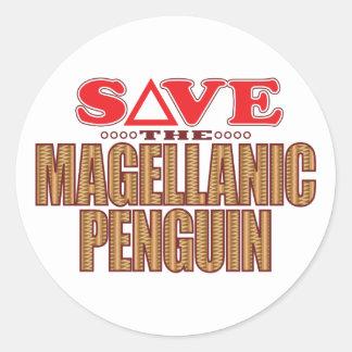 Magellanic Penguin Save Classic Round Sticker