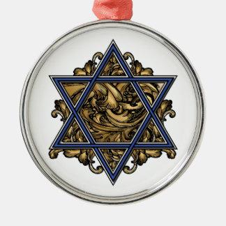 Magen David Gold Metal Ornament