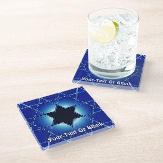 Magen Gimel Glass Coaster