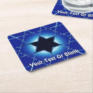Magen Gimel Square Paper Coaster