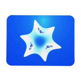 Magen Lavan (blanco seis) Rectangle Magnet