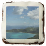 Magens Bay, St. Thomas Beautiful Island Scene Chocolate Brownie