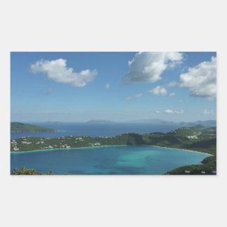 Magens Bay, St. Thomas Beautiful Island Scene Rectangular Sticker