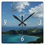 Magens Bay, St. Thomas Beautiful Island Scene Square Wall Clock