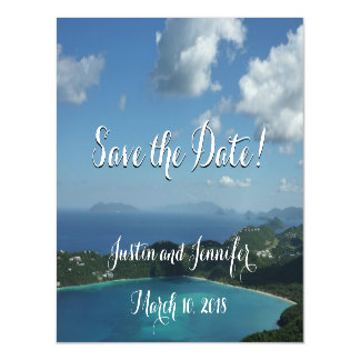 Magens Bay, St. Thomas Wedding Save the Date Magnetic Card