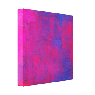 Magenta and Blue Abstract Painting Canvas Print