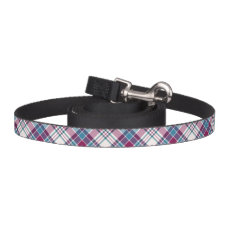 Magenta and Blue Plaid Pet Lead