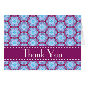 Magenta and Blue Stars Bridal Shower Thank You V05 Stationery Note Card
