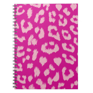 Magenta and Pink Leopard Reversible Print Spiral Notebook