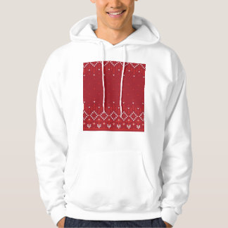 Magenta and Red Christmas Abstract Knitted Pattern Sweatshirt