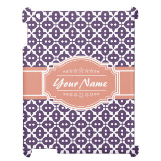 Magenta and Salmon Decorative Clover Personalized Cover For The iPad 2 3 4
