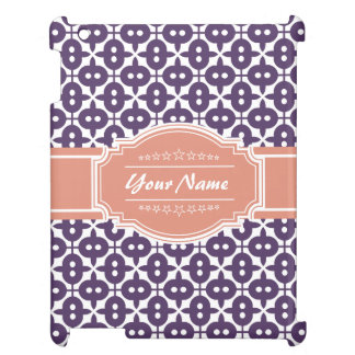 Magenta and Salmon Decorative Clover Personalized iPad Covers