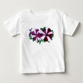 Magenta and White Petunias Kids Baby T-Shirt