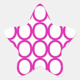 Magenta and White Splash of O's Star Sticker