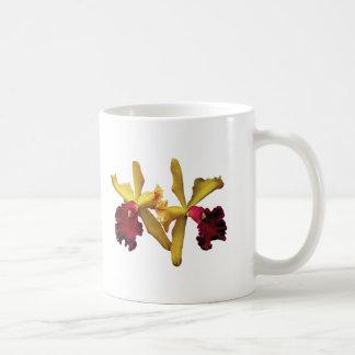 Magenta and Yellow Orchids Coffee Mug