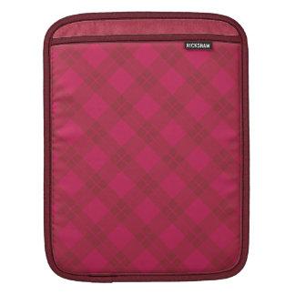 Magenta Argyle Pattern Sleeve For iPads