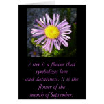 Magenta Aster - A Star of Love and Fidelity Greeting Card