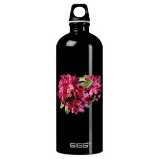 Magenta Azaleas Aluminum Water Bottle