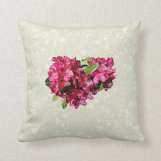 Magenta Azaleas Throw Pillow