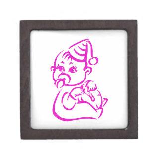 Magenta Baby Outline Gift Box
