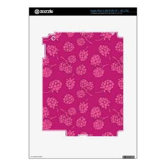 Magenta Berry Pattern Decal For iPad 3
