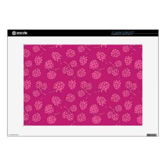 Magenta Berry Pattern Laptop Decals