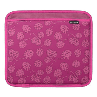 Magenta Berry Pattern Sleeve For iPads