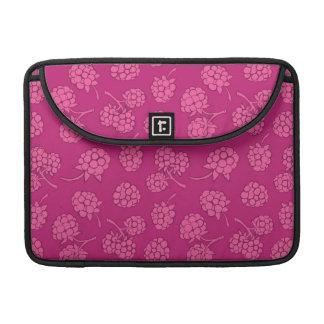 Magenta Berry Pattern Sleeve For MacBooks