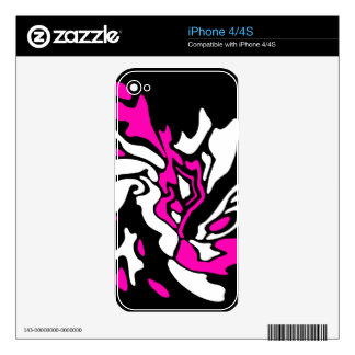 Magenta, black and white decor decal for the iPhone 4S