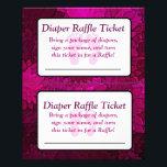 "Magenta Bows Baby Shower Raffle Ticket Flyer<br><div class=""desc"">Magenta Bows Baby Shower Raffle Ticket</div>"