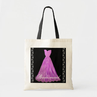 MAGENTA Bridesmaid Dress Cotton Tote Bag