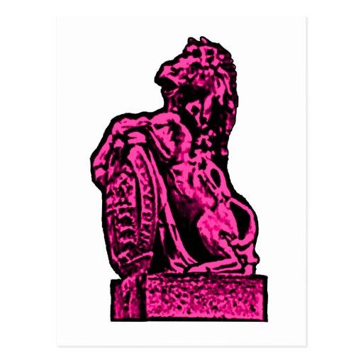Magenta británica del caballo del emblema el GIF Postales