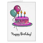 Magenta Cake-013 y turquesa Felicitacion