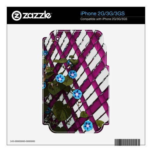 Magenta Chain-Link Decals For iPhone 2G