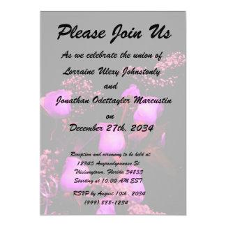 """magenta color de rosa del aerosol contra negro invitación 5"""" x 7"""""""