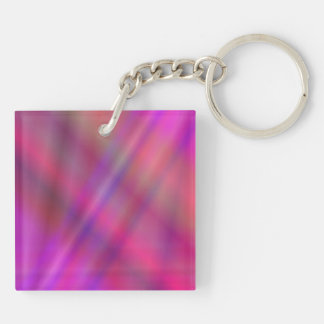 Magenta colorful abstract keychain