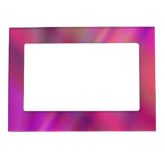 Magenta colorful abstract magnetic photo frame