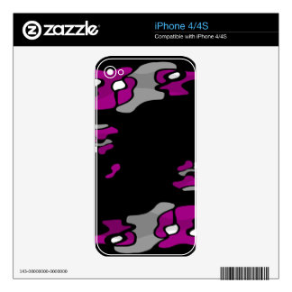 Magenta creativity skin for the iPhone 4S