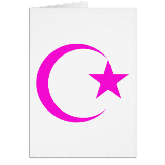 Magenta Crescent & Star.png Greeting Cards