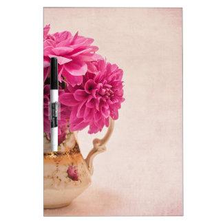 Magenta Dahlias Dry Erase Board