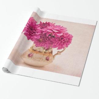 Magenta Dahlias Gift Wrap