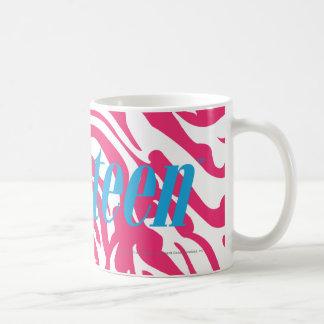 Magenta de la cebra taza de café