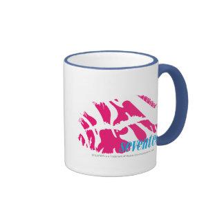 Magenta de la cebra taza de dos colores