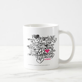 Magenta de la pintada taza